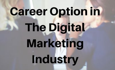 Career Option in The Digital Marketing Industry
