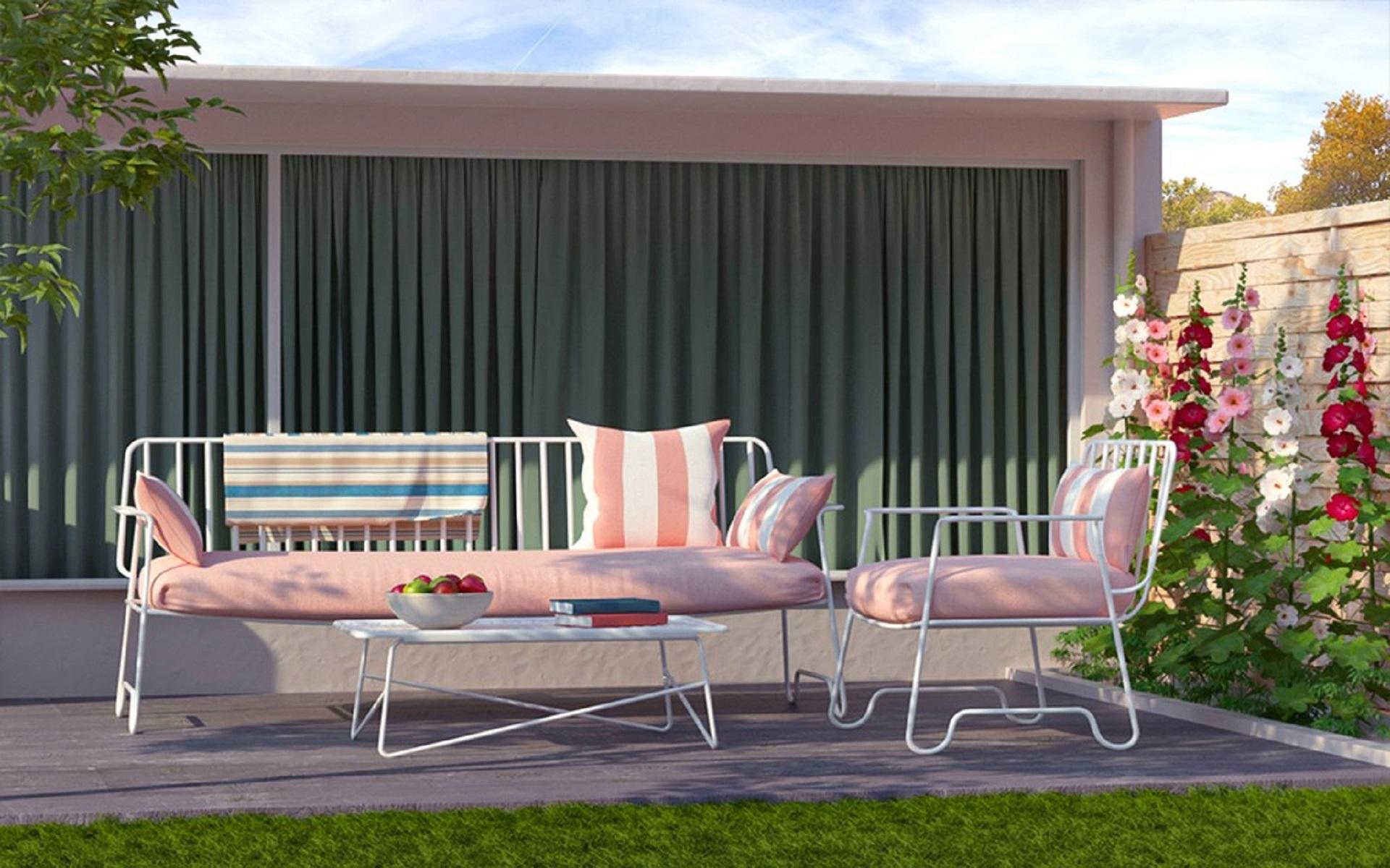decorate outdoor area