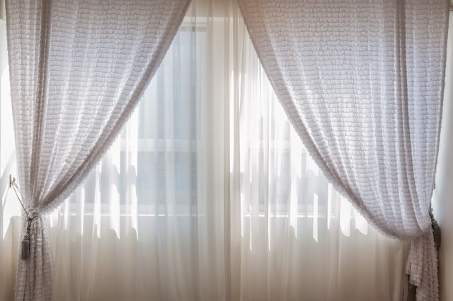 light colored clothing for window curtains