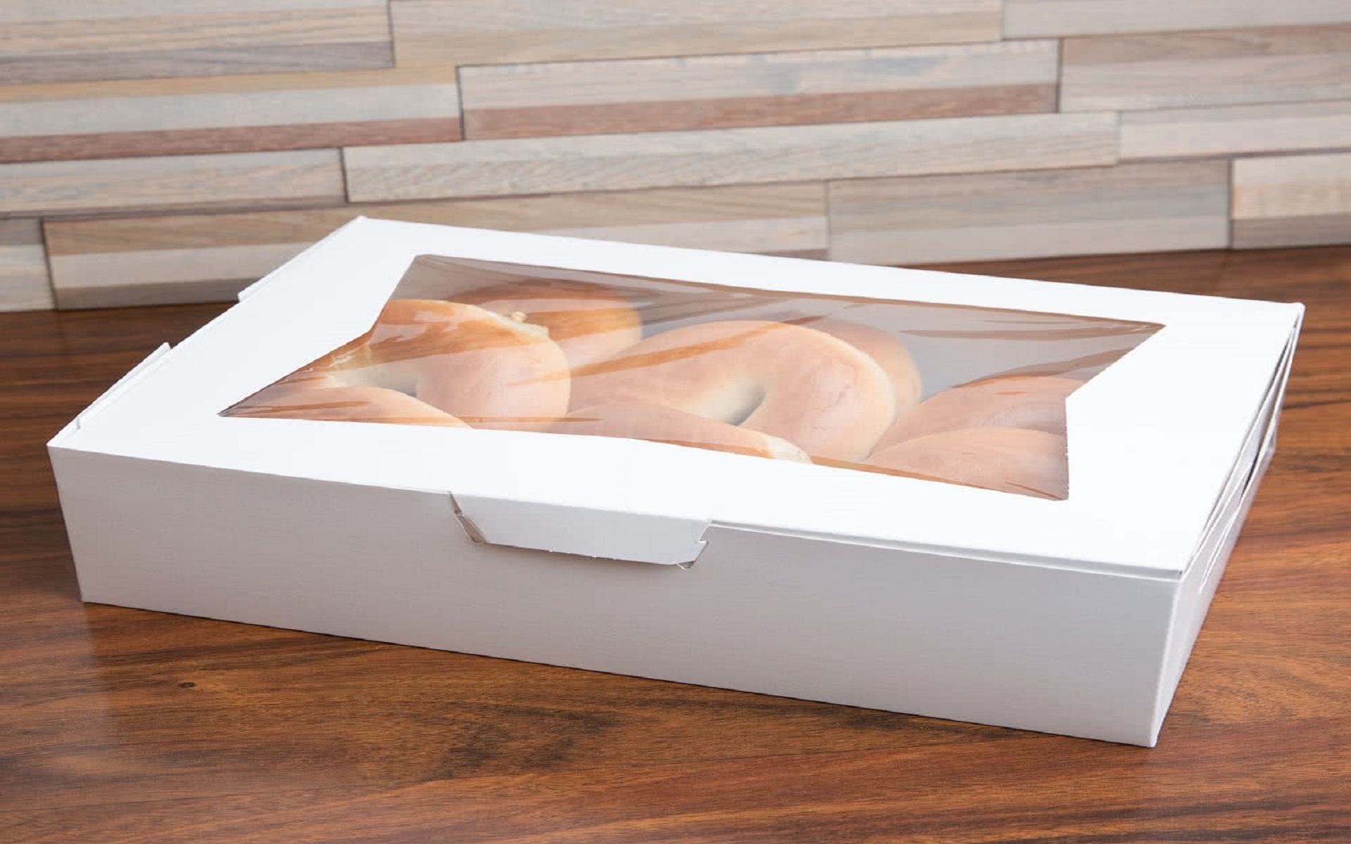 white donut box