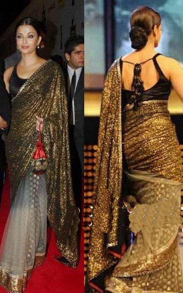 Bollywood Golden Saree