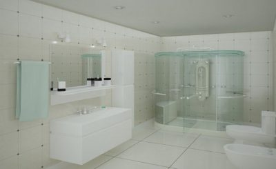 modern shower cubicle