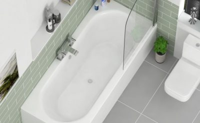 double-ended corner bath