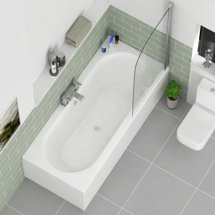 double-ended corner bath