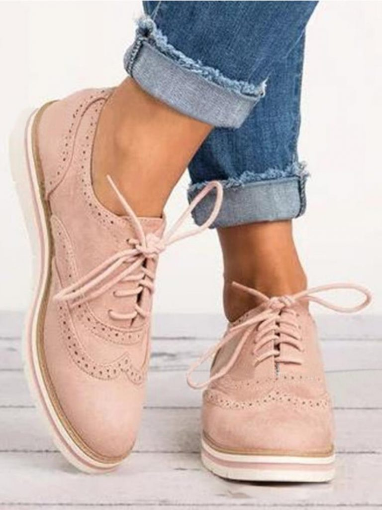 shestar wholesale lace up flat women bullock shoes