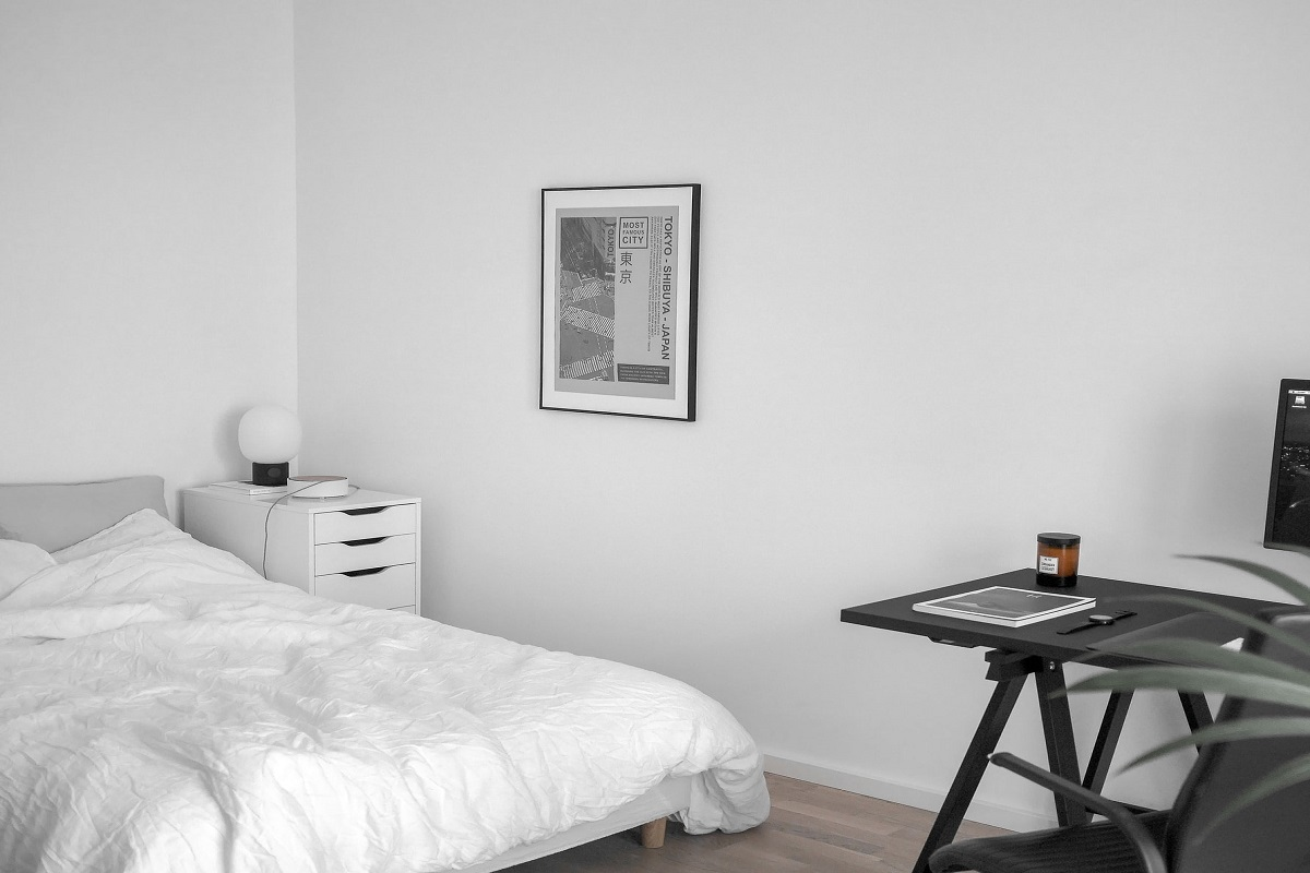 desk can serve as a nightstand