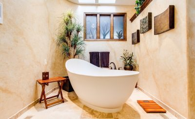 A beautiful bathroom that follows many Feng Shui tips for your bathroom