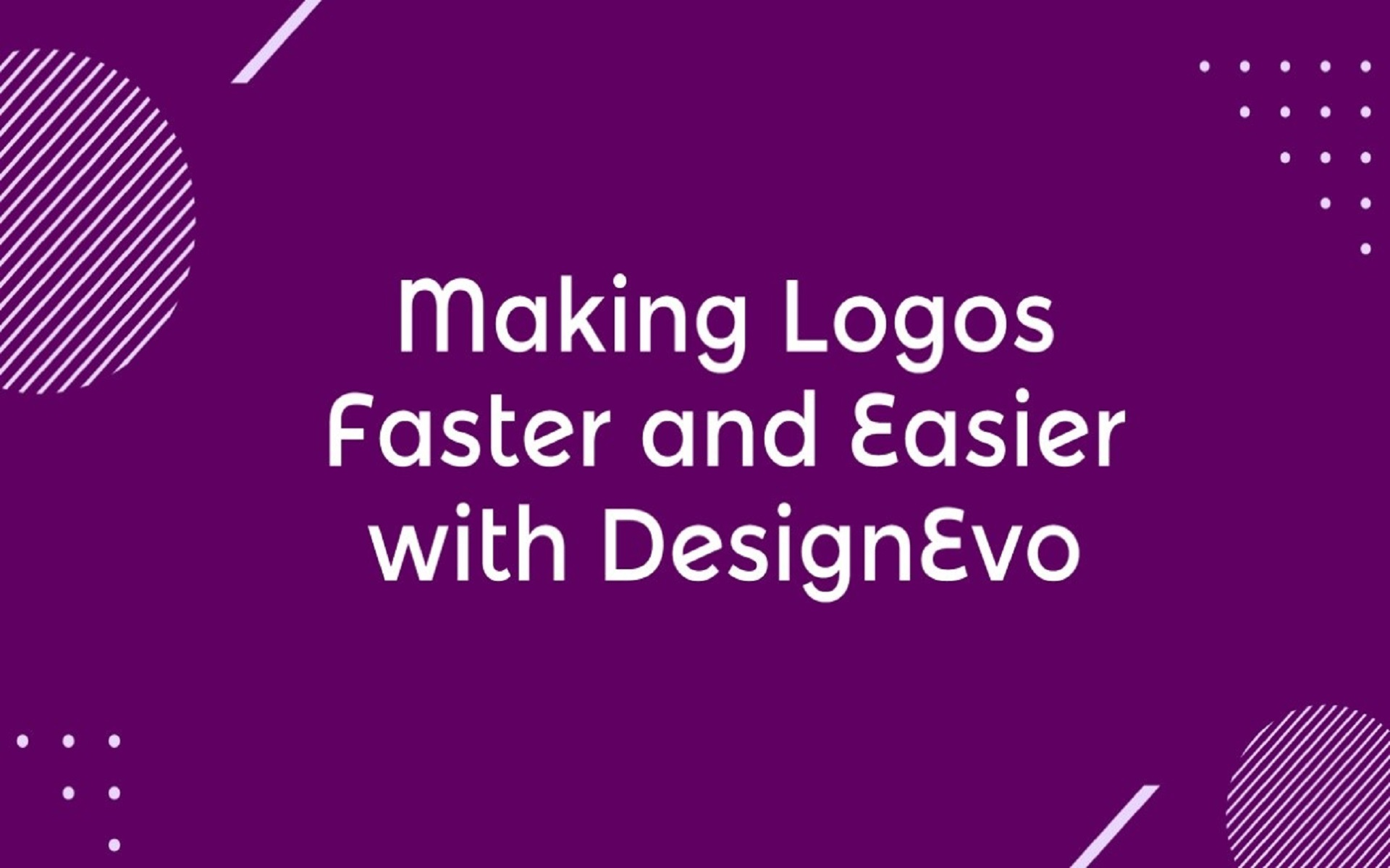Making Logos Faster and Easier with DesignEvo